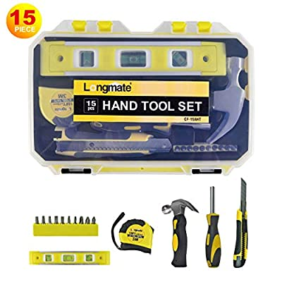 Hand Tool Set, Longmate Household Hand Tool Kit General Mechanic Tool Set with Tool Box Storage Case