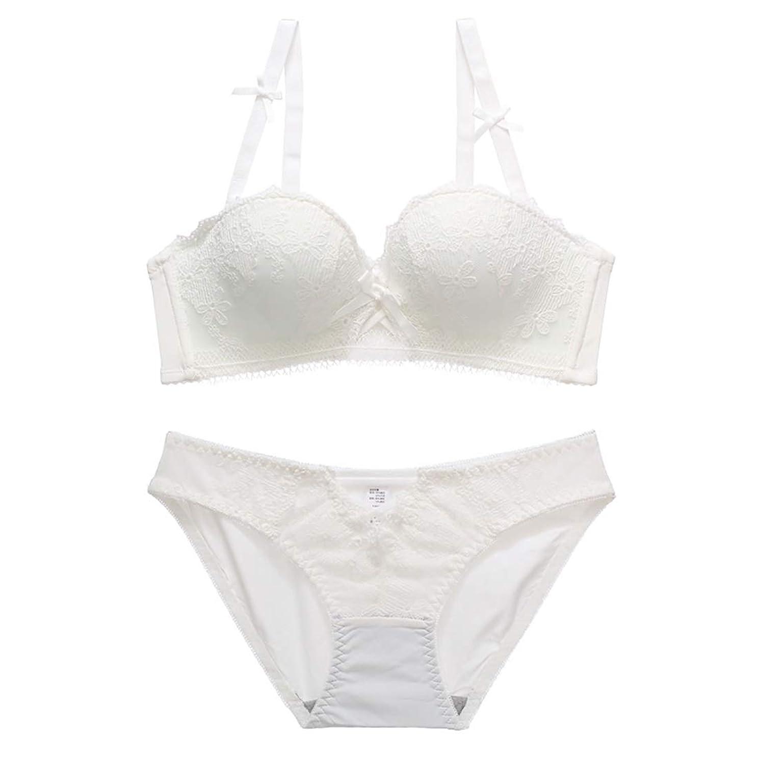 すでに小さい前者ケア セクシーな透かし彫りブラセットレース刺繍パターン、スポンジ、スチールリングなし、調節可能な胸下着、3バックルの4行。 閉じる (Size : 70A=30A=65A)