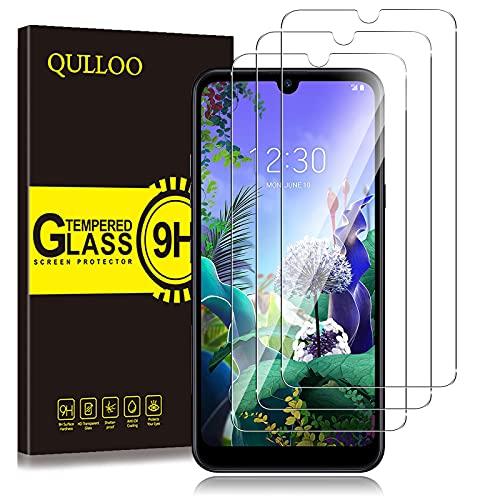 QULLOO Protector de Pantalla LG Q60 / LG K50, Cristal Templado [9H Dureza][Alta Definición][Fácil de Instalar] para LG Q60 / LG K50 (3 Piezas)