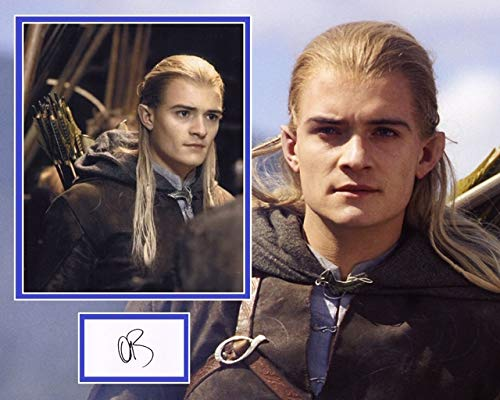 Orlando Bloom signed Photo Mount, The Lord Of The Rings, Pirates Of The Caribbean, In Person Dealer UACC Registered #242