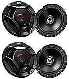 "(4) JVC CS-DR621 6-1/2"" 6.5"" 2-Way Coaxial Car Audio Speakers / 300 Watts Max"