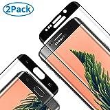 RIIMUHIR Pellicola Vetro Temperato per Samsung Galaxy S6 Edge,Samsung S6 Edge Schermo in Vetro[Alta Trasparente] [3D Copertura Completa], Protezione Schermo per Samsung S6 Edge - [2 Pezzi]