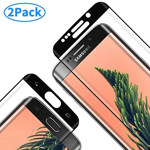 RIIMUHIR Protector de Pantalla para Samsung Galaxy S6 Edge, Vidrio Templado con [9H Dureza] [Sin Burbujas] [Anti-Huella] [Alta Definición], Cristal Templado para Samsung Galaxy S6 Edge - [2 Paquetes]