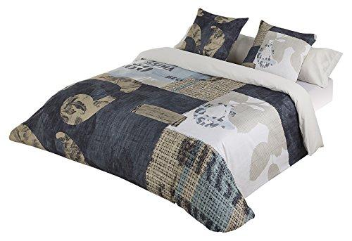 JVR Expresso påslakan säng med 160 cm bredd blå