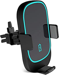 حامل شاحن سيارة لاسلكي سريع ، 10 واط متوافق مع جالاكسي S10 / نوت 9 / S9 / S8 / نوت 8 ، 7.5 واط متوافق مع آيفون XR/XS / XS ...