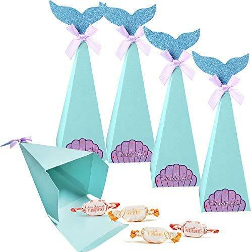 Generies Scatole Regalo di Mermaid Sacchetti Regalo Sirena per Festa Matrimonio Bambini Scuola Materna Compleanno Baby Shower Doccia Nuziale. (30 Pezzi)