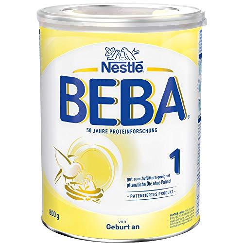 Nestlé BEBA Anfangsmilch 1, Anfangsnahrung von Geburt an, 1er Pack (1 x 800g)