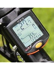 Lixada Wireless Bike Bicycle Cycling Digital Computer Odometer Speedometer Stopwatch Thermometer Night Light Backlight Backlit Rainproof Multifunction