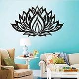wZUN Lotus Quote Vinyl Sticker Flower Extraíble Decal Decoration Home Waterproof Wallpaper Design Poster Mural 56x33cm