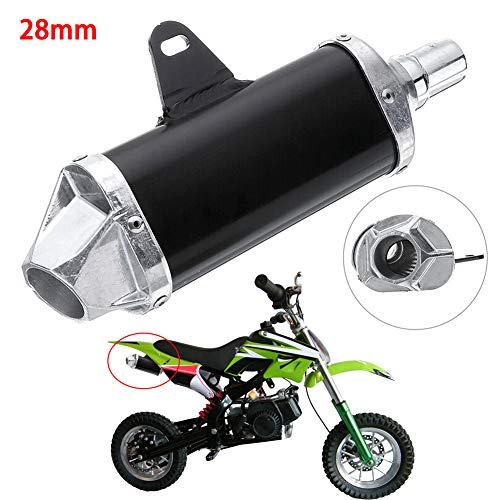 FUVOYA 28 MM Auspuff Aluminiumlegierung Endschalldämpfer Für Motorrad Dirt Bike ATV Quad 50cc-150cc