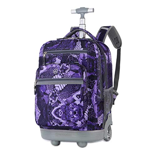 2-Wheel Student Trolley School Bag, Travel Luggage, Wheeled Cabin Suitcase, Single-Pole Backpack, Birthday Gift for Youth and Students (Color : C)