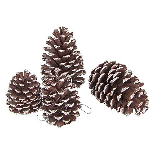 BURI Weihnachtsbaum-Anhänger Tannenzapfen 4er-Set Christbaumschmuck Weihnachtsdeko