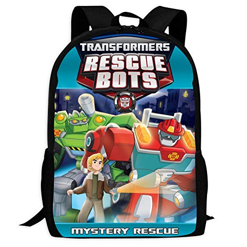 Children's School Bags Tra-Nsf-ORme-rs Res-cUE Bo-TS Printing Backpacks Kids Daypack for Boys Girls