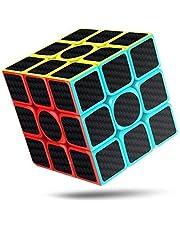 XMD 競技用キューブ 魔方 3x3 立体パズル 【6面完成攻略書】 世界基準配色 公式·WCA国際大会規格 知育玩具 対象年齢6歳以上 (3x3 炭繊維)