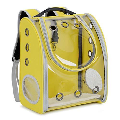 HKMA Mochila Portátil para Mascotas, Porosa, Transpirable, Transparente, Plegable, De Gran Capacidad, Espacial