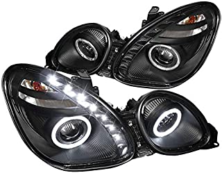 Spec-D Tuning LHP-GS30098JM-RS Black Projector Headlight (Halo Housing - Not Compatible With Factory Xenon)