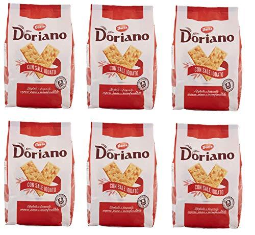 6x Doria Doriano Crackers salati Salzgebäck gesalzen 700g kekse gebäck