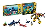 Legoo Lego Creator-Set: 31088 - Bewohner der Tiefsee + 31090 - Unterwasser-Roboter, ab 7 Jahren
