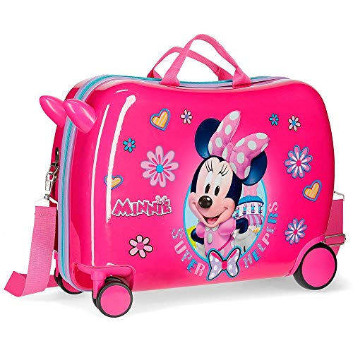 Maleta infantil ruedas multidireccionales Minnie Super Helpers