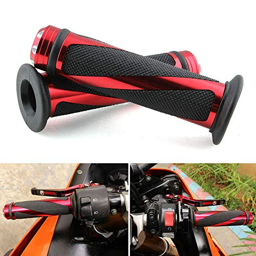 """Tuning_Store The Best Accessories for Tuning and Upgrading Your Iron Horse Motorcycle Hand Grips 7/8"""" 22mm Handlebar Gel for Suzuki GSXR 600 750 1000 RED"""
