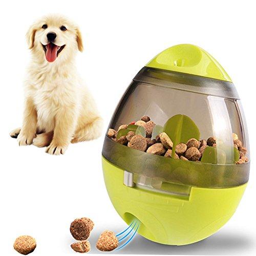 Leeko 犬用 おやつボール 難易度調節可能 噛むおもちゃ ペットおもちゃ だるまボール 餌入れ 早食い防止 知...