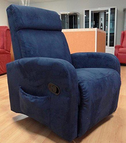 Trama Toscana Sillón relax reclinable manualmente con kit de vibromasaje y calefacción Jade