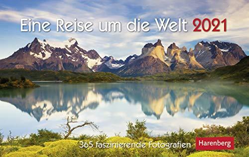 Eine Reise um die Welt - Premiumkalender 2021 - Harenberg-Verlag - Tageskalender mit 365 faszinierenden Fotografien unserer Sehenswürdigkeiten - 22,8 cm x 16,8 cm - Germany - Deutschland-Kalender