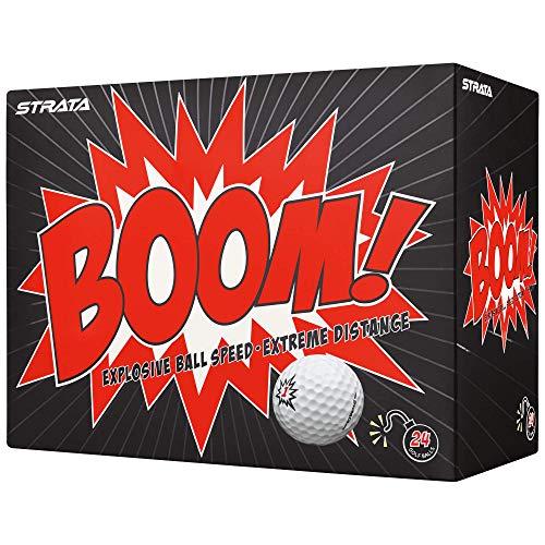 Strata Boom Golf Balls, (Two Dozen), White -  Callaway Golf, 612475453