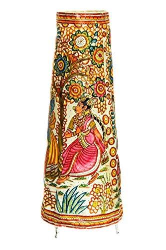 INDIAINNINGS Great Indian Festival Exclusive Andhra Floor Lamp - Radha Krishna in Vridavan Type 1. 25 inch (Height),Diameter-10 inch(Bottom),6 inch(top)
