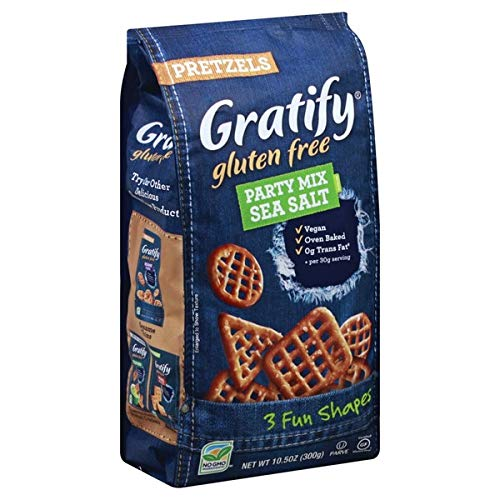 Gratify Gluten Free Pretzel Party Mix Sea Salt (Case of 6)
