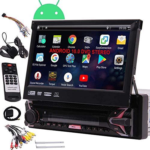 EINCAR 7  HD Car DVD Player Singolo Din Android 7.1 Quad Core CPU autoradio ricevitore di navigazione GPS con il GPS stereo RDS WiFi OBD SWC Specchio, 1 GB di RAM 16 GB ROM, Bluetooth, microfono est
