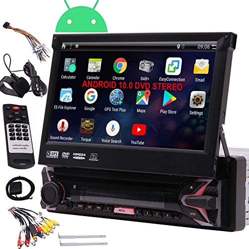 EinCar 7' HD Car DVD Player Single DIN Android 7.1 Quad Core CPU Car Radio GPS Navigation Receiver with Stereo GPS RDS WiFi OBD SWC...
