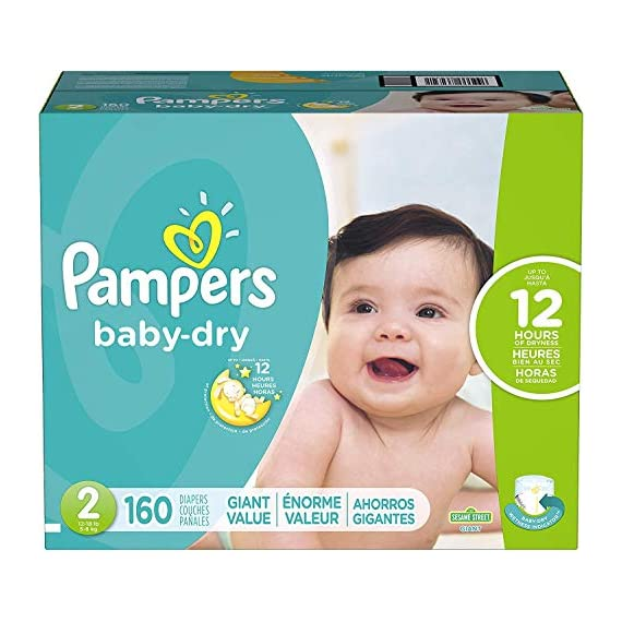 Diapers-Size-1-Newborn-8-14-lbs-174-Count-Pampers-Baby-Dry-Disposable-Baby-Diapers-Giant-Pack-Packaging-May-Vary