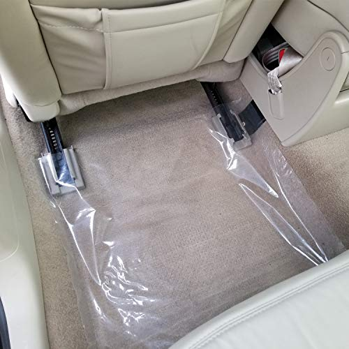 """ArmorDillo Heavy 4 mil 100% American Protective Cover Auto Adhesive Floor Mats, (Perfed Every 21"""", Clear, Removable) … (Unprinted)"""