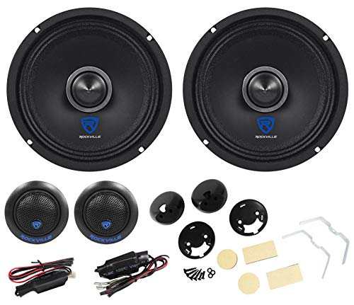 "Pair Rockville 6.5"" Component Car Speakers w/Kevlar Cones+Silk Dome Neo Tweeters"
