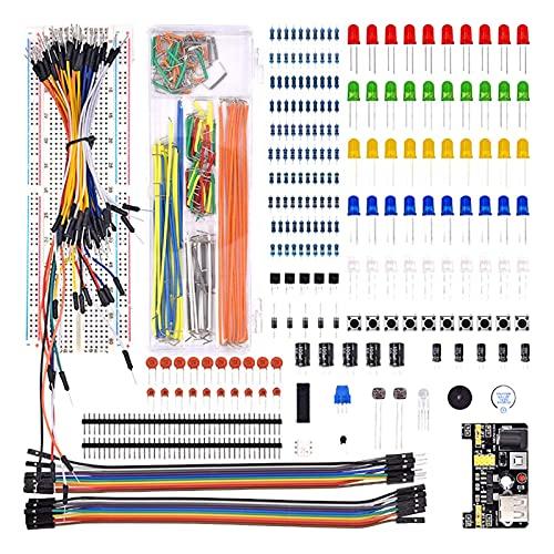 Janedream Owner Kit básico de componentes electrónicos de condensadores con 830 Puntos...