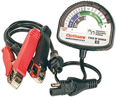 Optimate TS126N – Comprobador de batería para todas las baterías de 12 V plomo, ácido y litio LFP/LiFePO4