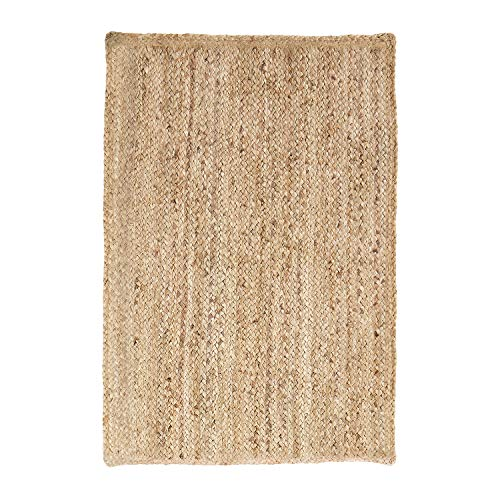 SUPERIOR Natural Braided Collection Hand Woven Jute Rug, 8