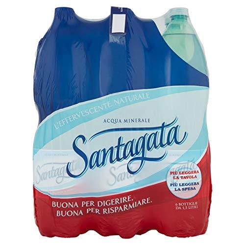 Santagata Acqua Minerale Effervescente Naturale 1.5L (Confezione da 6)