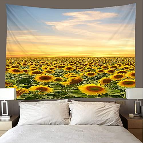 binghongcha Sunflower Tapestry 140X210Cm Mandala Tapestries Yoga Mat Beach Towel Blanket,Picnic Beach Sheet, Table Cloth, Boho,Decorative Wall Hanging A3317