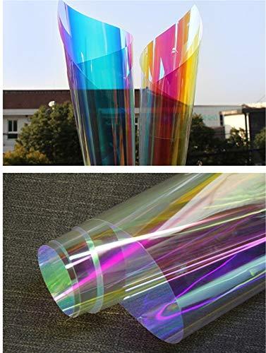 RONGSHU Dichroic Film 100/200 / 300cmx45cm Rainbow färbte Glasfilm Home Dekorative Film Party Licht Box Decor Store Folie (Size : HR013 45CMx300CM)
