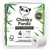 The Cheeky Panda Limited - Papel higiénico sin plástico (4 rollos, 480 g)