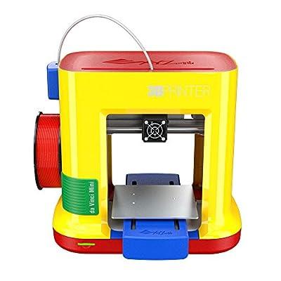 "da Vinci miniMaker 3D Printer-6""x6""x6"" Built Size (Includes: 300g Filament, 3D eBook, Maintenance Tools, PLA/Tough PLA/PETG) Upgradeable to Print Carbon/Metallic PLA"
