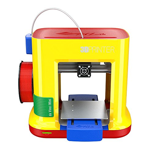 da Vinci miniMaker 3D Printer - 6''x 6''x6'' Built Volume (Includes 300g PLA Filament, Maintenance Tools, Print Bed Tape, 3D Filles Access, 3D Design CAD Software)