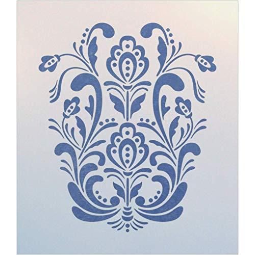 Rosemaling Pattern 18 Stencil - The Artful Stencil