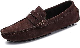 DADIJIER Penny Loafer for hombre Zapatos de conducción planos Resbalón en punta redonda Cerrado Tacos antideslizantes Suel...