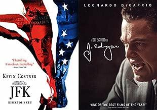 Political Movies: OLIVER STONE VS. CLINT EASTWOOD 2 Pack Dramas JFK J.Edgar DVD 2 Film Bundle