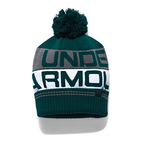 Under Armour Retro Pom Beanie 2.0 Bonnet Homme, Arden Green/White/Graphite (919), FR Fabricant : Taille Unique