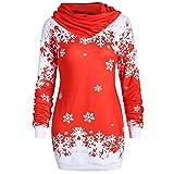 OSYARD Weihnachts Pullover Kleid Slim Fit Christmas Sweatshirt Damen, Mode Frauen Langarmshirt Frohe...