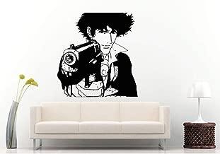 Etiqueta de la pared Hombre Hombre Anime Con pistola de Mano Calcomanías de pared especiales Hogar Niños Comics Dormitorio Decoración Mural Póster Smirk Señalando Papel tapiz Tamaño: 42x47cm
